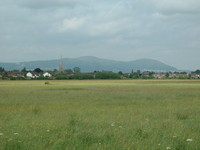 Upton-upon-Severn with the Malvern Hills in the background
