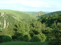 The view south along Dovedale from the back garden of Air Cottage