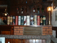A healthy range of whisky in the Watts Russell Arms in Hopedale