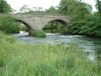 A bridge over the River Dove at Ellastone