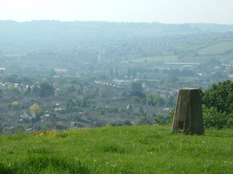 The trig point on Penn Hill