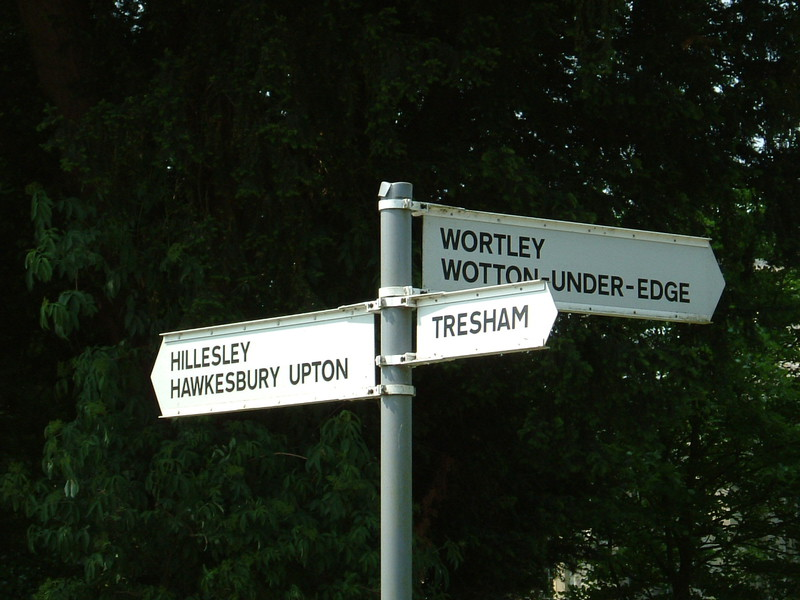 A Cotswold signpost