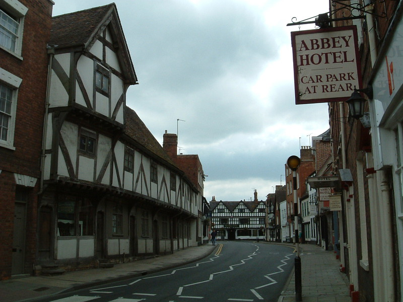 A pretty street in Tewkesbury