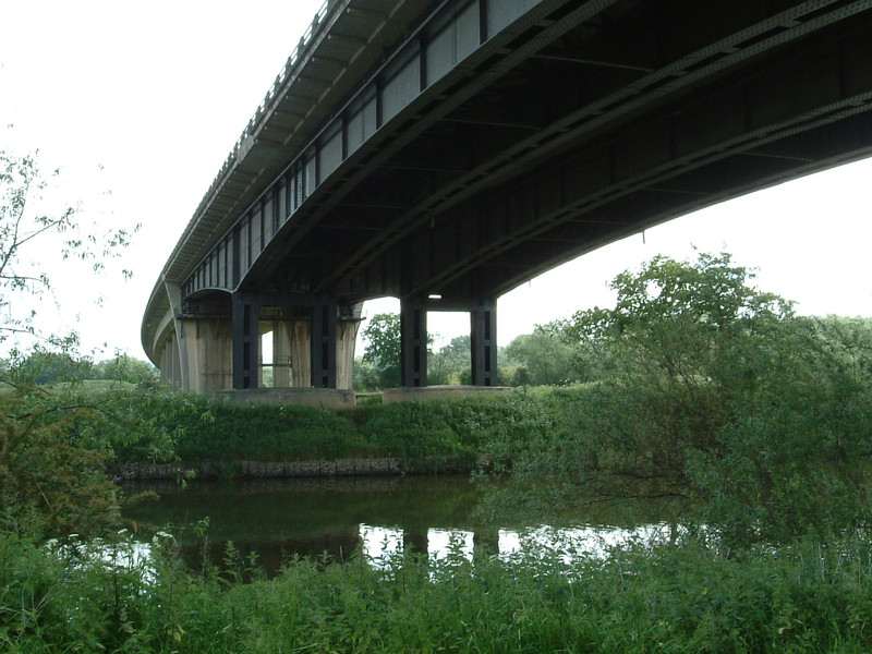 The point where the M50 crosses the River Severn