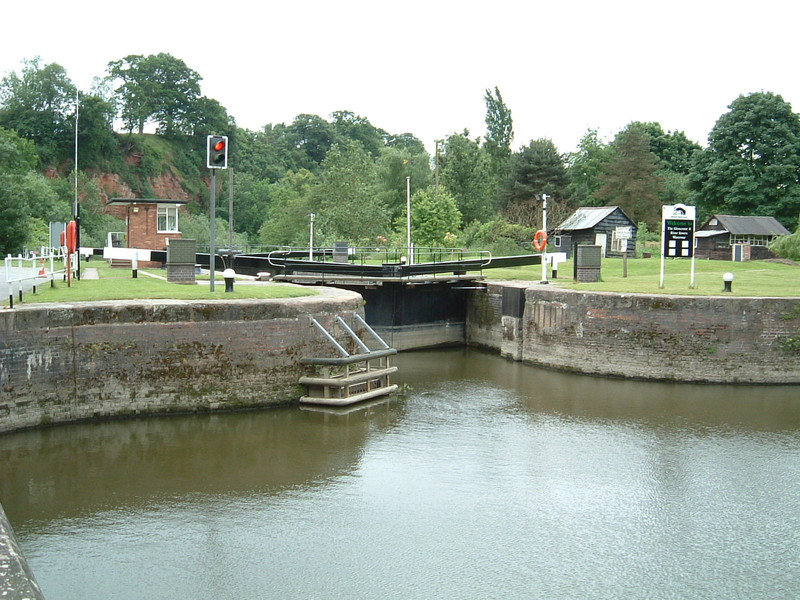 A lock on the River Severn