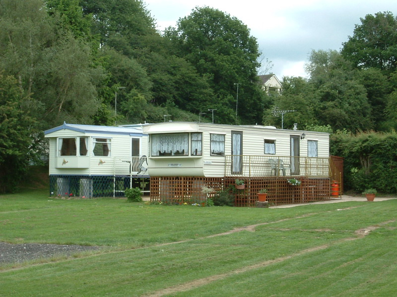 Posh static caravans by the Severn