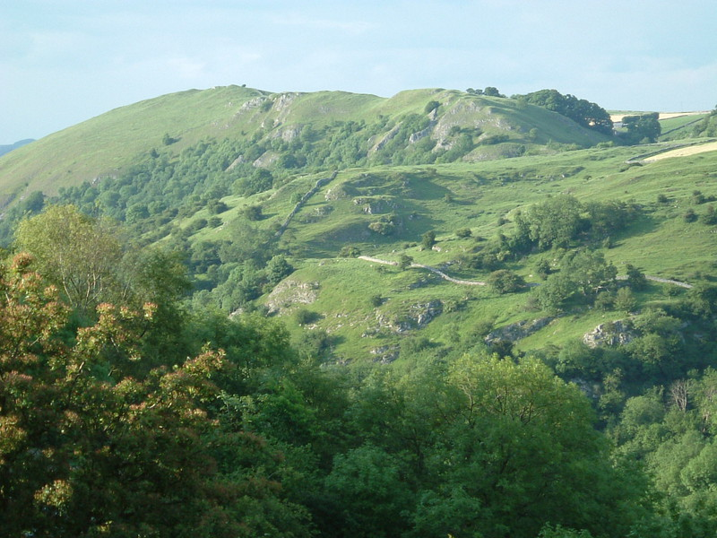 The view north along Dovedale from the back garden of Air Cottage