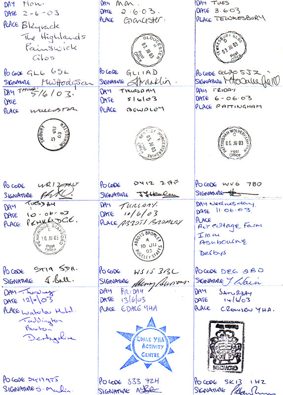 Mark's verification sheet (page 3)